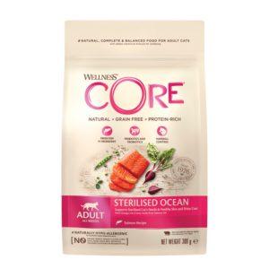 lovecats-Wellness Core Adult Sterilized Ocean Salmon 300gr