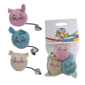 lovecats Παιχνίδι Για Γάτες Ποντικάκια (3 τεμάχια)