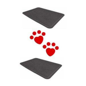 lovecats Χαλάκι xl Για Τουαλέτα Γάτας 60x90cm (Ανθρακί)
