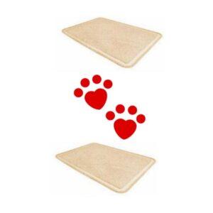 lovecats Χαλάκι xl Για Τουαλέτα Γάτας 60x90cm (Μπεζ)