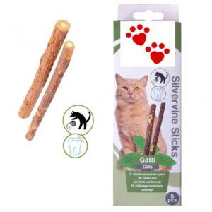 lovecats cat natural silvervine sticks (5 τεμάχια)